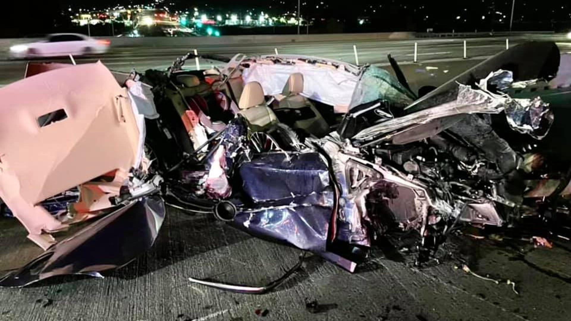 A photo of the wreck was released by the California Highway Patrol.