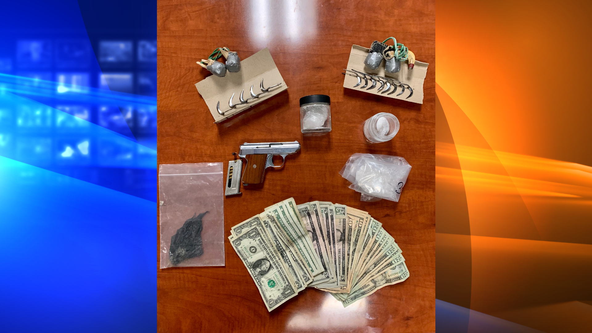 A Camarillo man was found to be in possession of methamphetamine, a gun and cockfighting equipment on Sept. 30, 2021, according to the Ventura County Sheriff's Office. (VCSO)