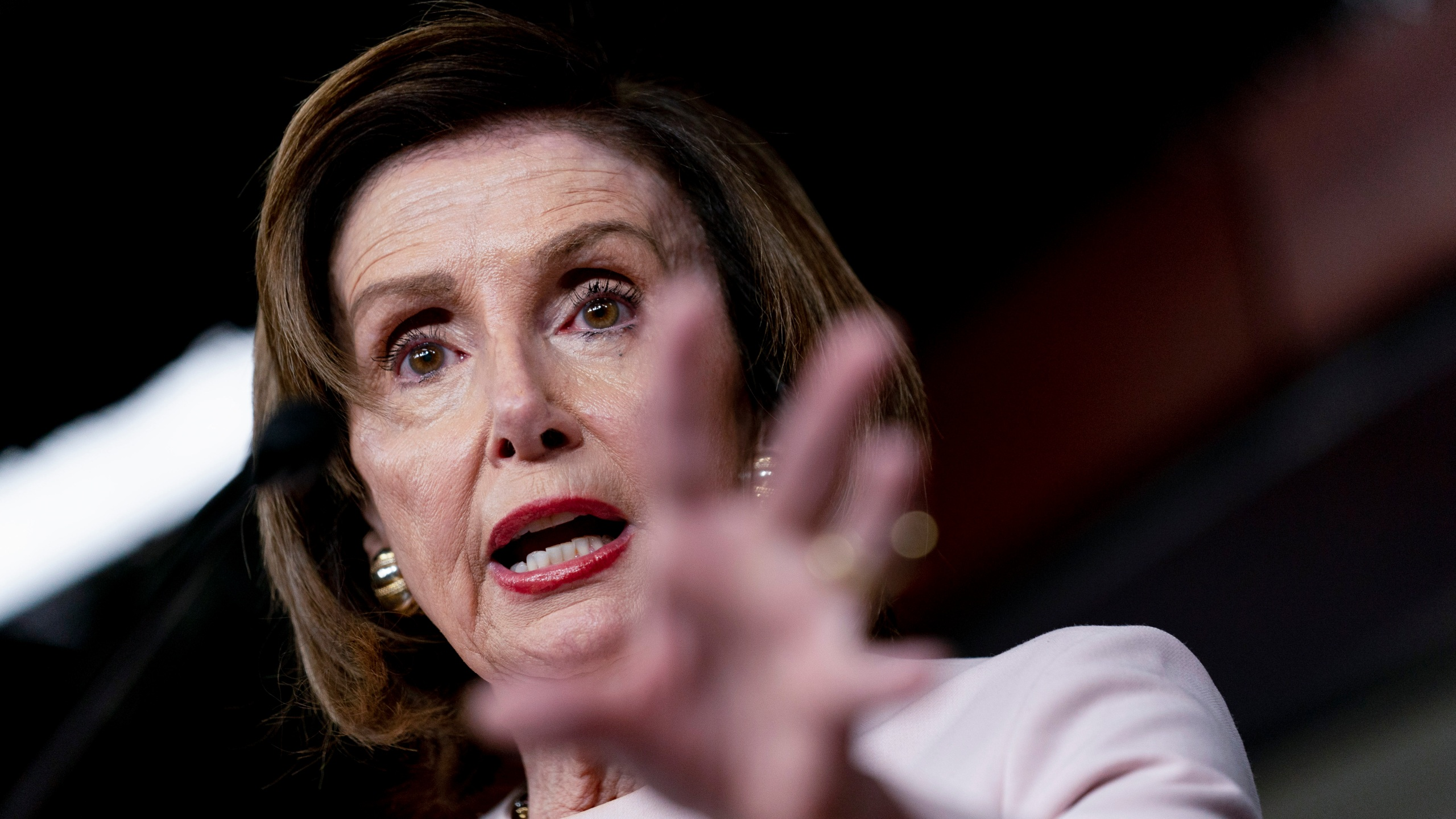 House Speaker Nancy Pelosi of Calif., speaks during her weekly news conference on Capitol Hill in Washington, Thursday, Oct. 21, 2021. (AP Photo/Andrew Harnik)