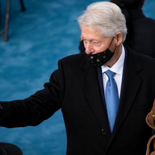 Former President Bill Clinton arrives at the inauguration of President-elect Joe Biden on the West Front of the U.S. Capitol on January 20, 2021 in Washington, DC. (Caroline Brehman-Pool/Getty Images)