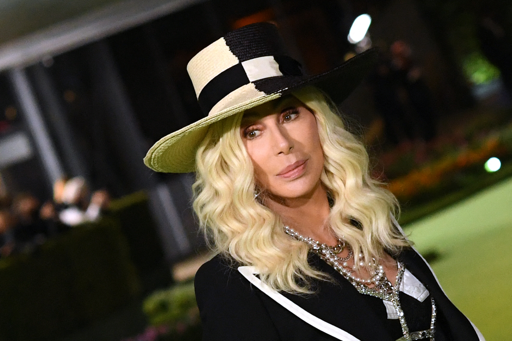 Cher arrives for the Academy Museum of Motion Pictures opening gala on September 25, 2021 in Los Angeles, (VALERIE MACON / AFP) (Photo by VALERIE MACON/AFP via Getty Images)