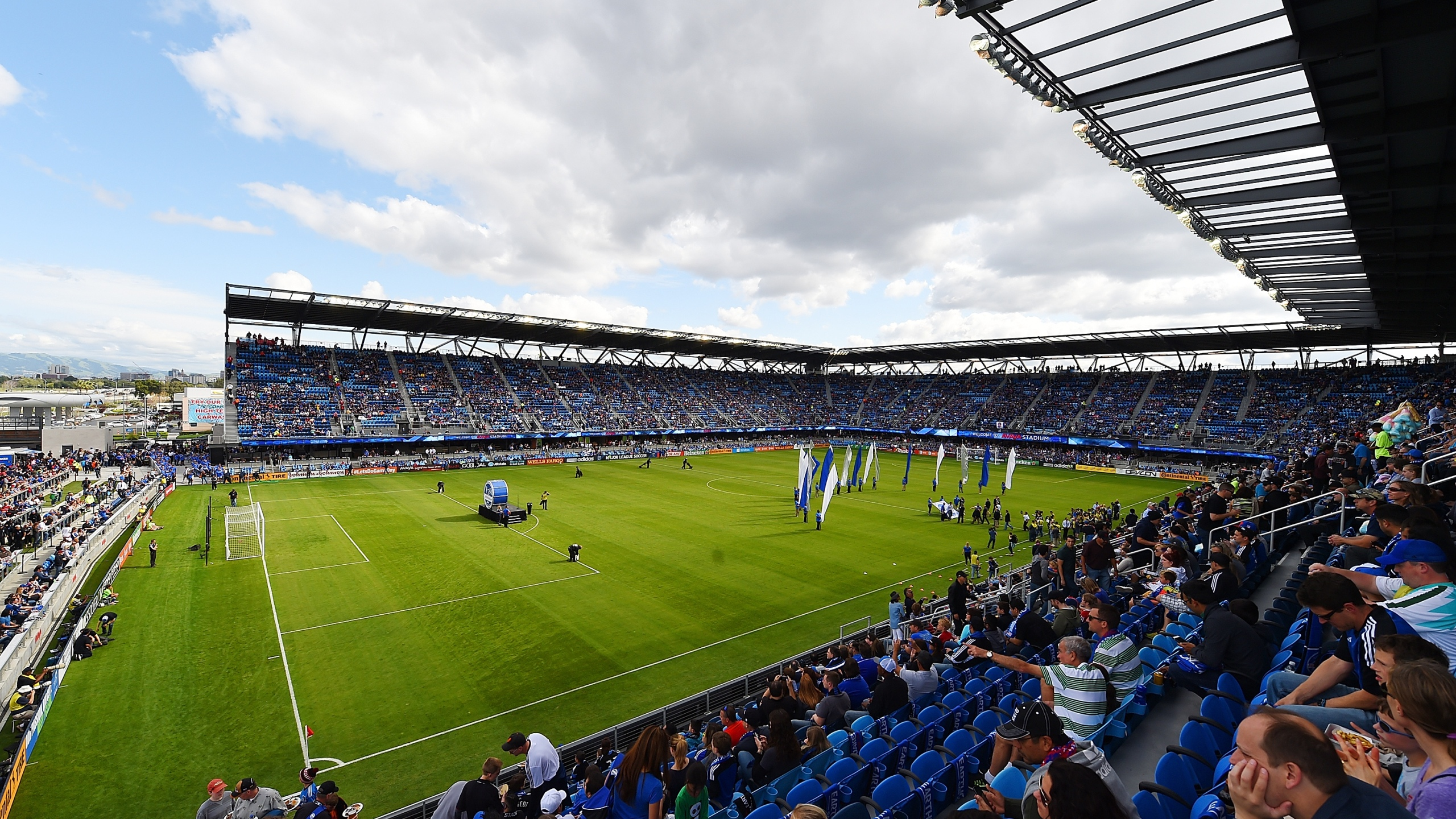 This March 22, 2015 file photo shows a general view of PayPal Park before an MLS game in San Jose, California. (Thearon W. Henderson/Getty Images)