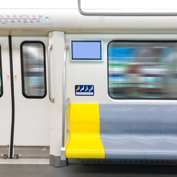 The interior view of a subway train is seen in a file image. (iStock/Getty Images Plus)
