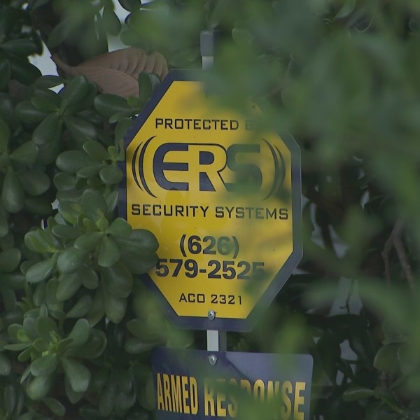 Despite a security system as shown on Oct. 7, 2021, a Rowland Heights woman's home was burglarized. (KTLA)