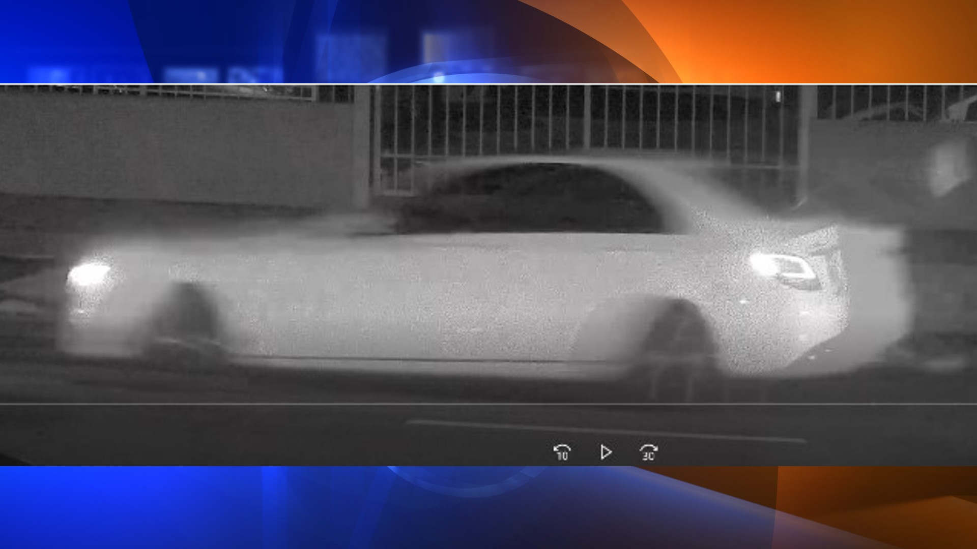 Police believe this white Mercedes-Benz was involved in a hit-and-run in East Hollywood on Oct. 9, 2021. (LAPD)