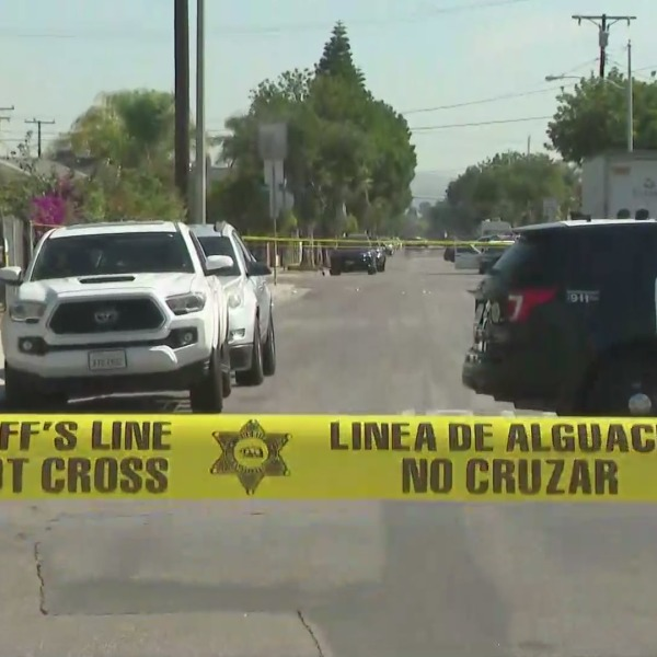 Sheriff's deputies are investigating after they were fired upon in East Los Angeles on Oct. 21, 2021. (KTLA)
