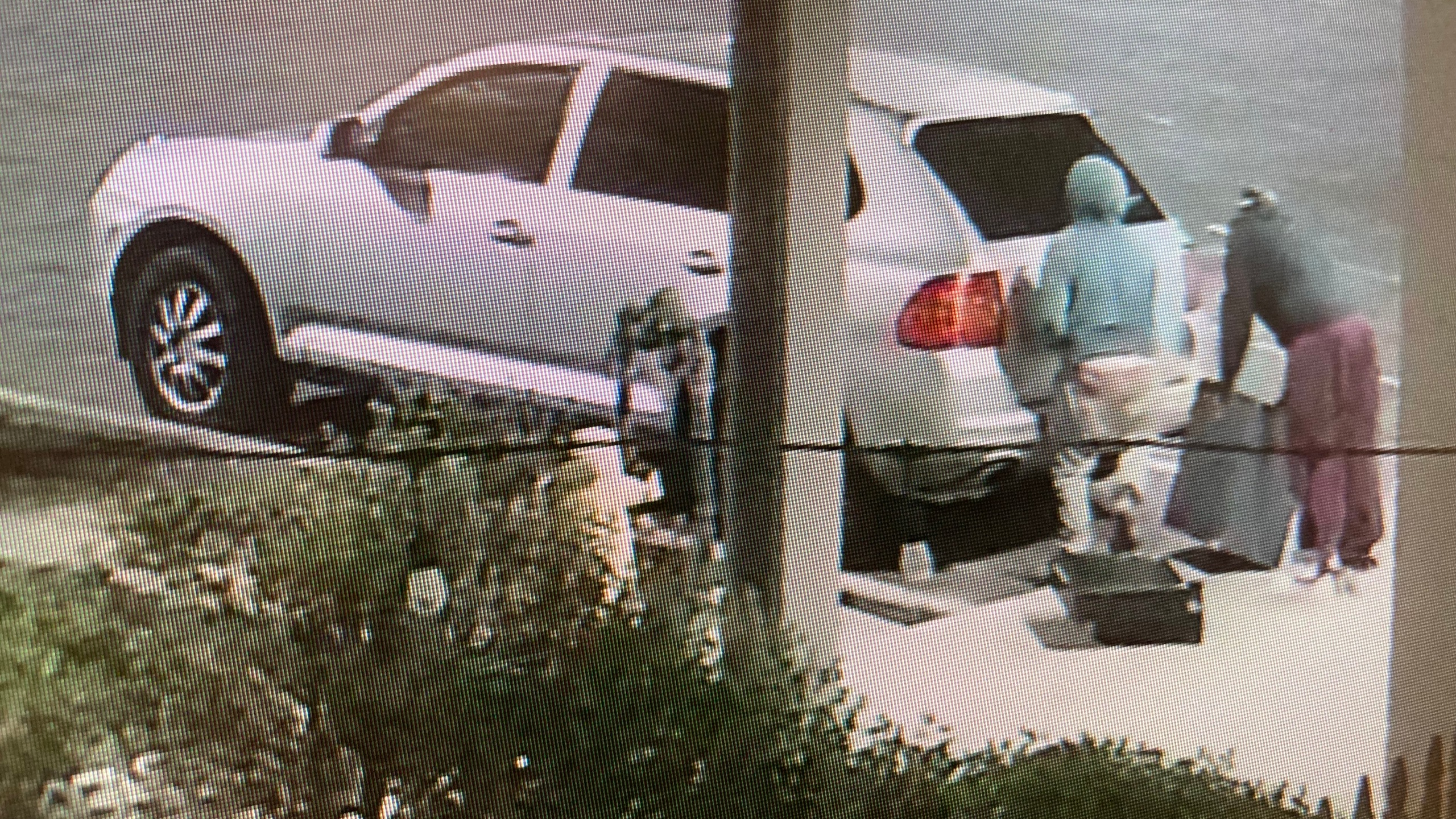 Three people driving a gray Porsche SUV burglarized four businesses on Oct. 5, 2021, according to the Santa Barbara County Sheriff's Office. (SBCSO)