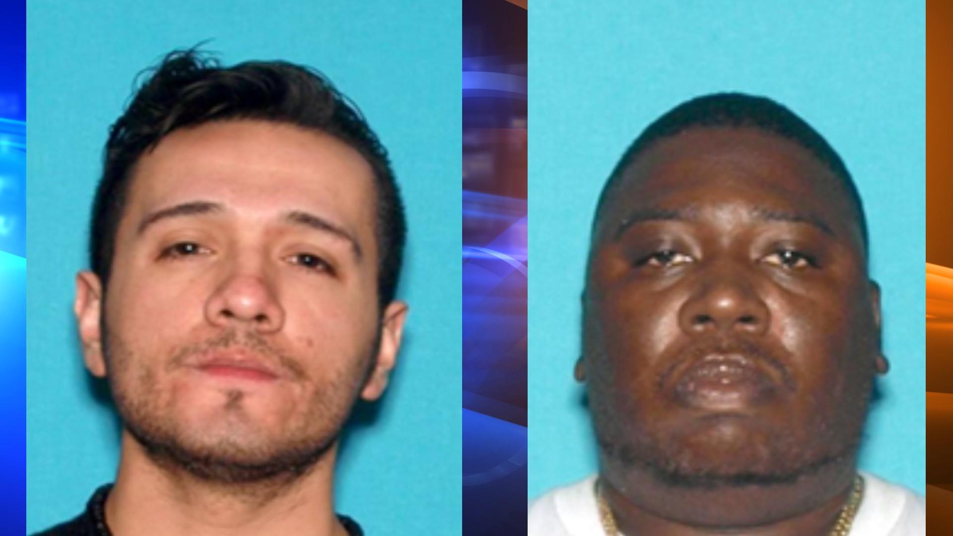 Dave Sanchez, left, and Mark Burton, right, were shot in San Bernardino in the past two days. (San Bernardino Police Department)