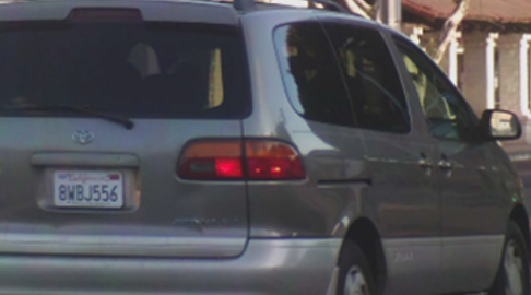 A vehicle Jesse Medrano was last seen in is shown in a photo released by the LAPD on Oct. 4, 2021.