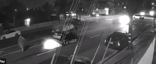 LAPD released surveillance video on Oct. 5, 2021. of a fatal hit-and-run crash in North Hills.