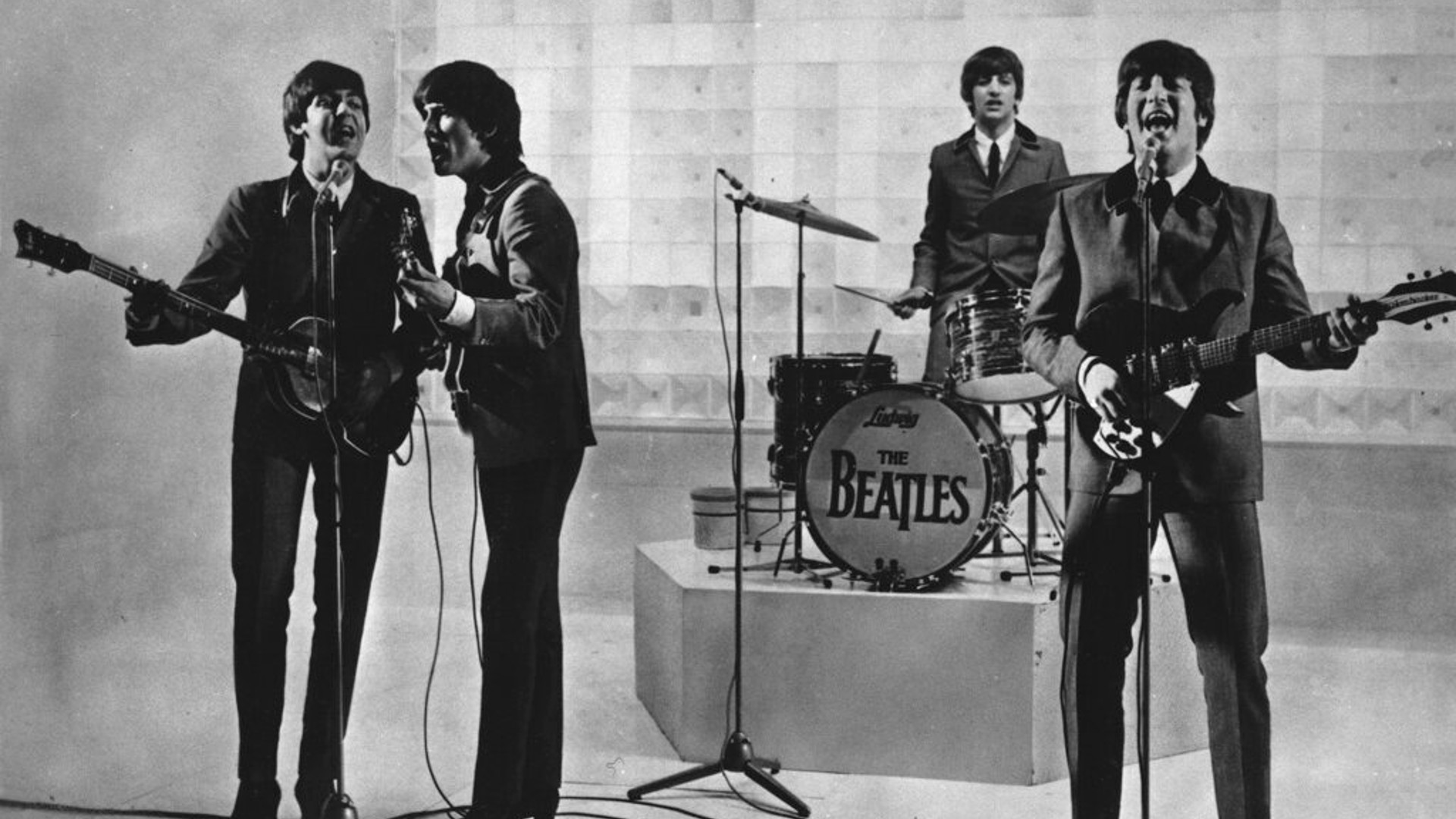 The Beatles are seen performing, date unknown. (AP Photo)