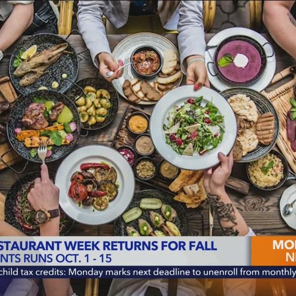 Dine LA returns for Fall 2021