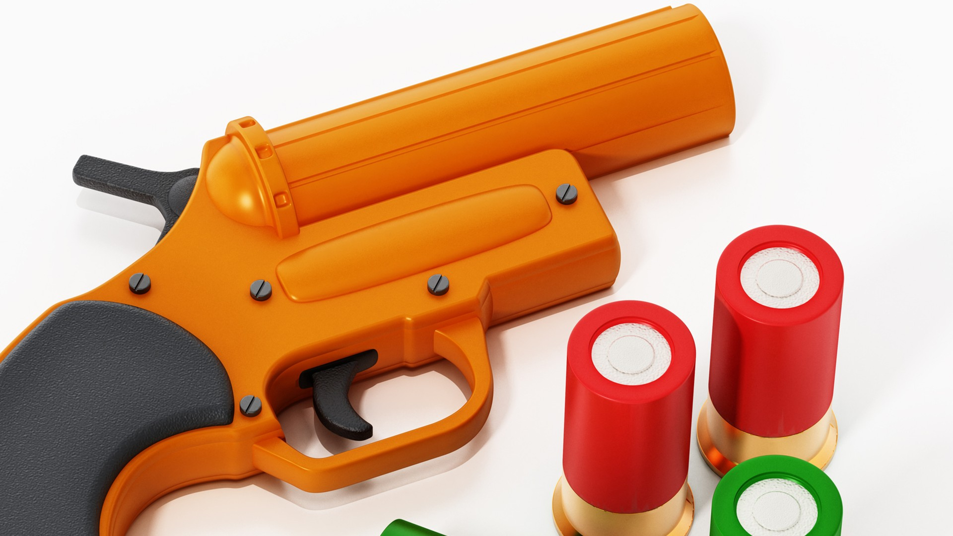 Flare gun and spare shells are seen in this file image. (Getty Images)