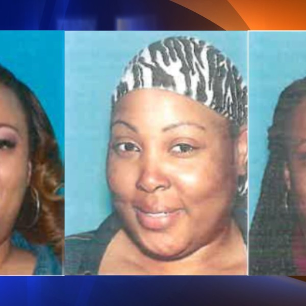 Valencia Stevenson, 40, Sareena Stevenson, 44, and LaToi Allena Pledger, 45 (from left to right) have been charged with have been charged with counts of grand theft and embezzlement in connection to an alleged scam to steal hundreds of thousands of dollars in public funds meant to help the homeless, the California attorney general announced on Oct. 21, 2021. (California Attorney General Rob Bonta's office)