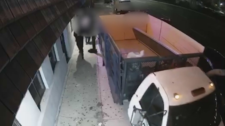 Video shows truck go onto sidewalk outside Hawthorne bar before driver was fatally beaten
