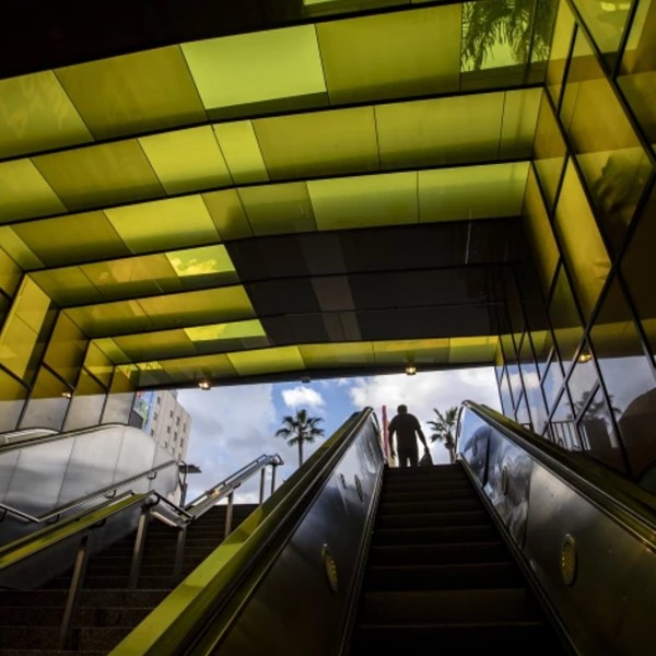 Police are searching for the gunman who shot a fellow Metro Rail passenger and then fled the Hollywood and Vine station, shown here last year, onto Hollywood Boulevard. (Brian van der Brug / Los Angeles Times)
