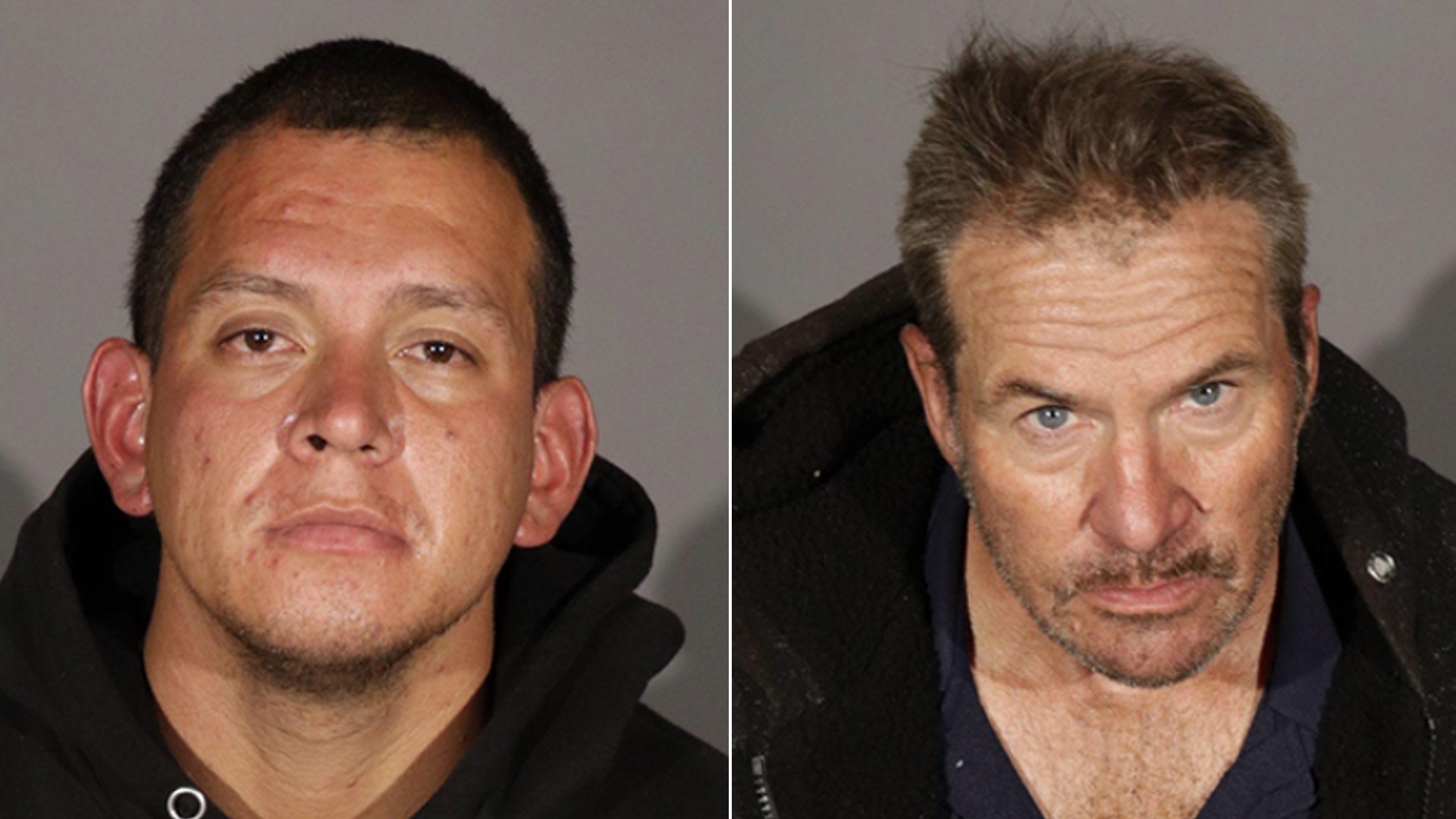 28-year-old Cesar Medina-Sanchez and 62-year-old Craig Murphy are seen in a photo shared by the Glendale Police Department on Oct. 19, 2021.